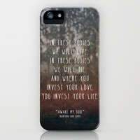 Where you invest your love iPhone Case by Zyanya Lorenzo