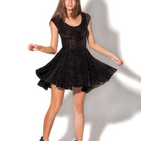 Burned Velvet Evil Cheerleader Dress | Black Milk Clothing