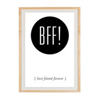 Social Media / Text Acronym Slang BFF Poster by RockTheCustardPrints