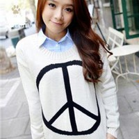 Vintage Round Neck Long Sleeve Sweater$43