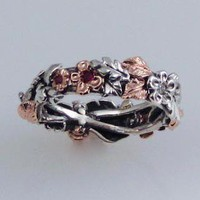 Rose Gold Wedding Band by FernandoJewelry on Etsy