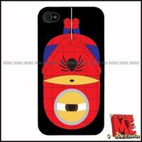 Despicable Me Minion Iphone 4 / 4S  Case Cover Gift Spiderman Super Hero Funny ♥