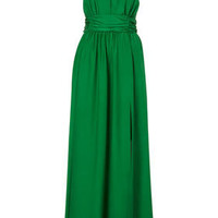LIMITED EDITION Emerald Silk Maxi Dress - Topshop