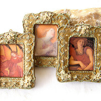 Angels A set of 3 miniature pictures of angels plated by Mintook