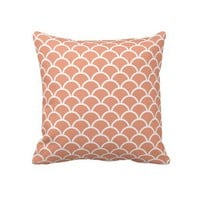 Coral Scallop Pattern Throw Pillows from Zazzle.com