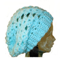 Slouchy Hat Beanie Mint Green Slouch Women Teen Pale Spring Crochet Slouch Hat