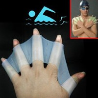 Silicone Swim Gloves ** available sizes: S, M, L **: Sports & Outdoors