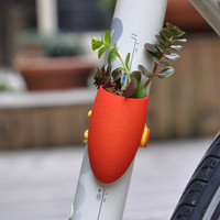 Red Bike Planter by wearableplanter on Etsy