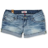 YMI Jeans Girls Amy Blue Cut Off Jean Shorts