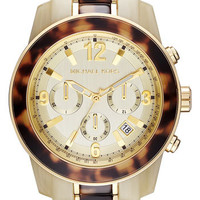 Michael Kors &#x27;Preston&#x27; Two Tone Chronograph Bracelet Watch | Nordstrom