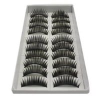Amazon.com: SODIAL- 10 Pair Long Black False Eyelashes Eye Lashes Makeup: Beauty