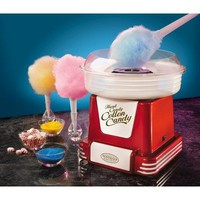 Retro Series Hard and Sugar-Free Cotton Candy Maker in Red