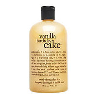 philosophy Vanilla Birthday Cake Shampoo, Shower Gel & Bubble Bath (16 oz)