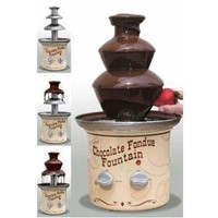 Nostalgia Electrics Chocolate Fondue Fountain, Black