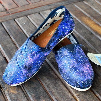 Galaxy TOMS shoes by BStreetShoes on Etsy