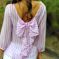 I Love You So Blouse: Lilac/White | Hope's
