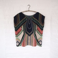 Electric Tassel Silk Blouse