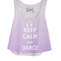 Dance Headphones Tank