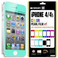 Mercury Color Screen Protector for Apple iPhone 4 (Turquoise / Mint): Cell Phones &amp; Accessories