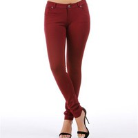 SALE-Burgundy Skinny Pants