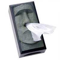 Tiki Head Tissue Box Cover - Green Face with Black Sides: Home &amp; Kitchen