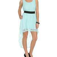 Lace Elastic High-Low Dress | Shop Sale at Wet Seal