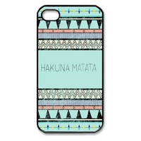 Hakuna Matata Iphone 4 4s Case Cover Ui146 ,Apple Plastic Shell Hard Case Cover Protector Gift Idea