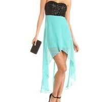 Strappy Back Hi-Low 2-Fer Dress: Charlotte Russe