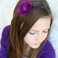 Purple Ranunculus Flower Headband Perfect for by SoSweetBows