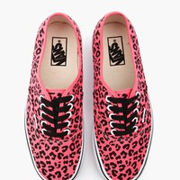 Authentic Sneaker - Neon Pink Leopard