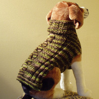 Dog Sweater Hand Knit  Cabled A Walk In The Woods by jenya2