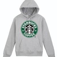 Starbucks Grey Hoodie Sweatershirt