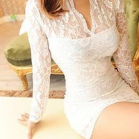 lace me all over in white