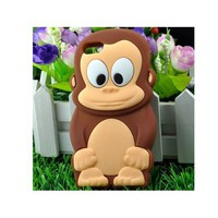 Amazon.com: Cute Animal 3D Monkey King Silicone Case Cover Skin for iPhone 5 Brown: Cell Phones & Accessories