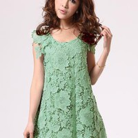 Light Green Lace Dress  S010188