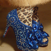 Party Gras - Custom-designed stud-covered heels