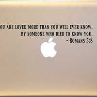 Macbook Romans 5:8 Bible Verse Decal Mac Laptop