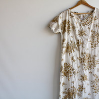 vintage 60's floral summer dress oversize gold by HOUSEofSTASH