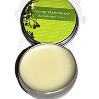 Shea and Cocoa Butter Lips Balms in Tins - Coconut Lemongrass Flavor