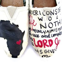 The Erika Africa Custom TOMS by FruitfulFeet on Etsy