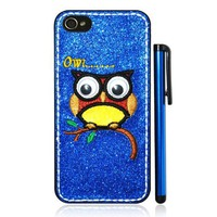 Inwrought 3D Owl Shimmering Powder Phone Case for iPhone5