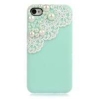 Lace with Pearl Case for iPhone 4 & 4S
