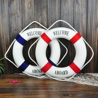 Mediterranean Navy Style Life Buoy  Wall decor