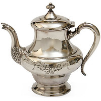 One Kings Lane - Seahouse Design - Silverplate Teapot, c. 1920