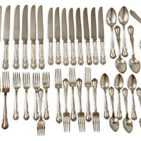 One Kings Lane - Seahouse Design - Barbour Silverware Set, 48 Pcs.