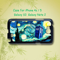 Tardis Who Doctor  Police box -   iphone 4 / 4S case , iphone 5 case , Samsung Galaxy S3 and Note 2 case in black or white