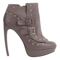Alexander McQueen | Flower Stud Double Buckle Boot
