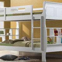 Iis White Bookcase Bunk Beds
