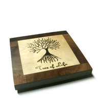 Wood Trivet - Hardwood 8x8 Hot Pad - Pot Holder