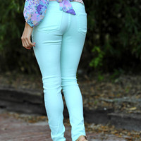 A Little Something Sweet Jeans: Aqua | Hope's